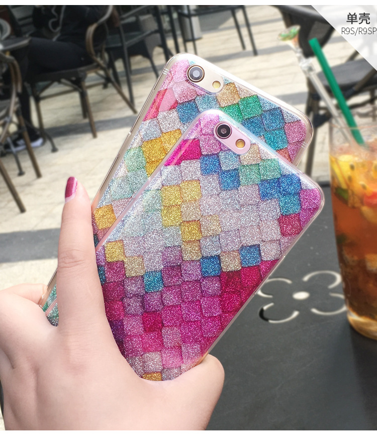 Luxury Shinning Glitter rhombus Love star Powder Plaid Soft Phone Back Cover Coque For iPhone X 5 5S SE 6 6S 7 8 Plus Phone Case