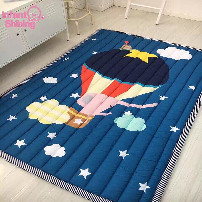 Bebé brillante bebé alfombra de juego los niños plegable alfombra de juego de niños arrastrándose por esteras Anti-deslizante Tatami alfombras de algodón Manta los niños