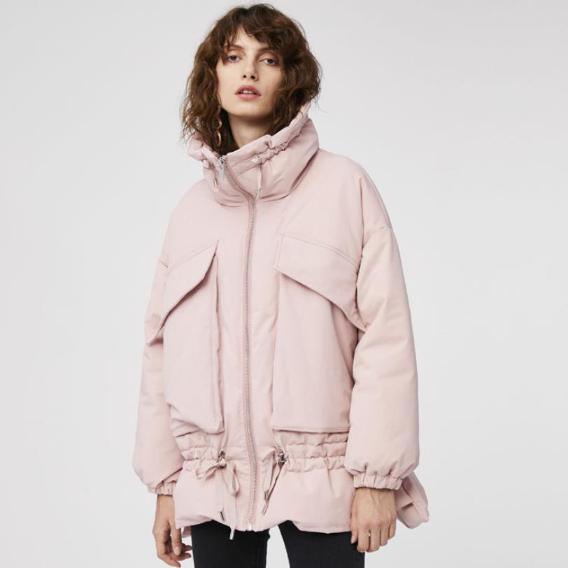Vers Plus Chaud Épais Manteau De Wq794 Style Veste Haut Ggood Col Nouvelle D'hiver Black Réel Le Taille Bas yellow Femelle Marque Mode Lâche La Tissu Parkas pink Zqxwn781w
