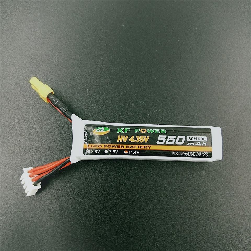 XF Power 3S 11.4V 550mAh 80C HV 4.35V