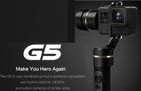Feiyu G5 ручной Алюминий Gimbal стабилизатор Совместимость с Gopro Hero5, Hero4 и экшн камер с аналогичного размера