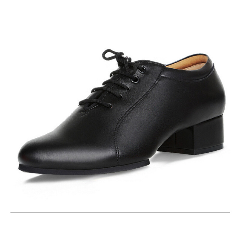 Adult Male Latin Shoes GB Men Modern Shoes Leather Banquet Soft Bottom Dance Shoes Man Flat Ventilation Natural Leather Shoes latin canvas dance women shoes female adult social modern shoes with leather soft soled shoes women square dance shoes