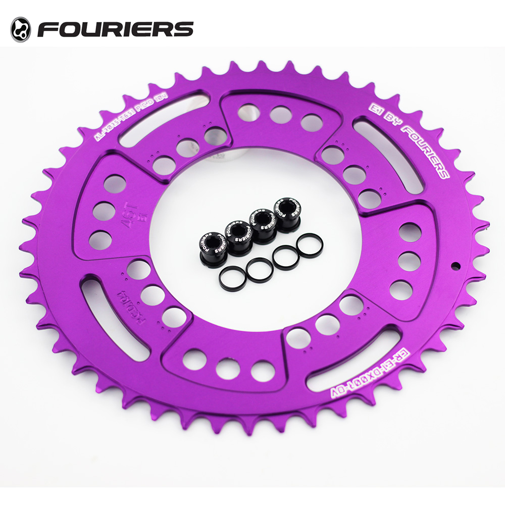 Fouriers 7075 Ovales Einzelkettenblatt 38T 40T 42T 44T 46T 48T - Radfahren - Foto 2