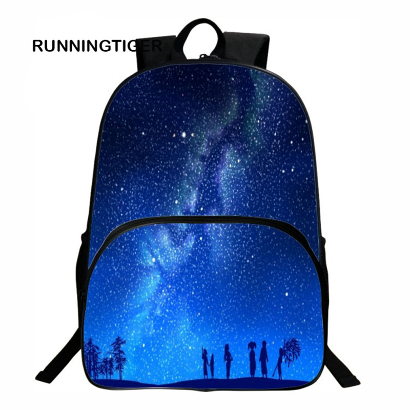 Women backpack for girls school backpack bag Stars Universe Space Printing Female Backpacks for students mochilas
