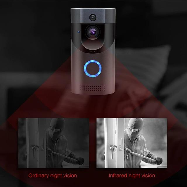 Bezprzewodowy inteligentny dzwonek do drzwi wideo IR Video Security kamera nocna Wifi dzwonek zdalny domofon wodoodporne wykrywanie ruchu PIR