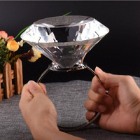 150mm Crystal Glass Napkin Ring Diamond Table Napkin Holder Wedding Banquet Dinner Decoration Home Ornaments Christmas Gifts