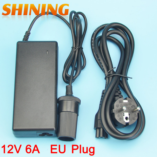 12V 6A 72W Power Supply Charger With EU Plug AC Converter Adapter ...