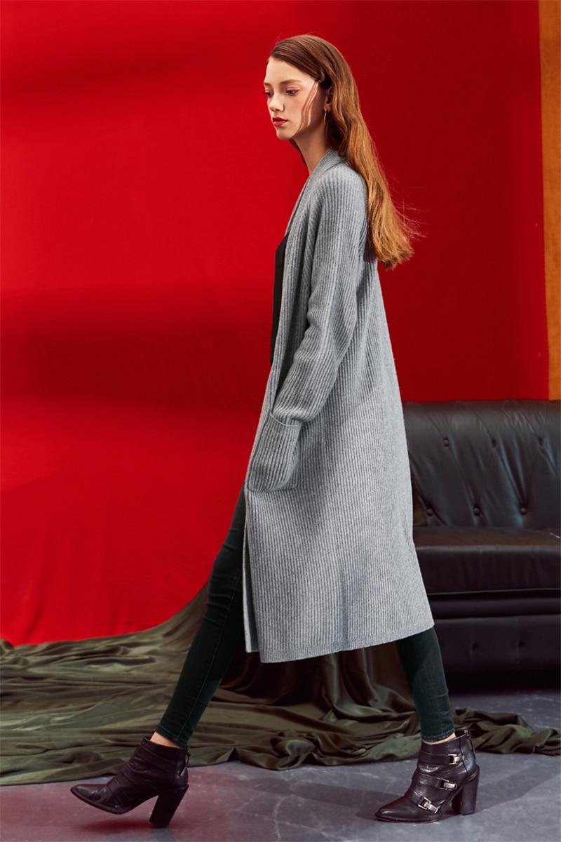 H Laine Tricotés Tranchée Femmes Cardigan Mélange Cachemire droite Mode Long l De M Et Manteau Chandail Épais qEPOwxAt