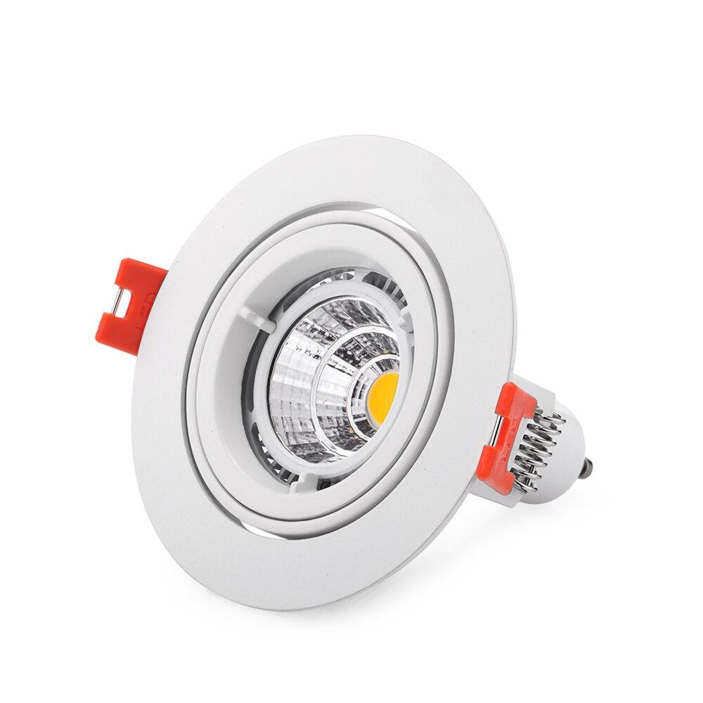 Free Shipping 10pcs/lot LED Ceiling Lamps Holder GU10/MR16 Led Spot Lights Fixture/ Fittings Kits