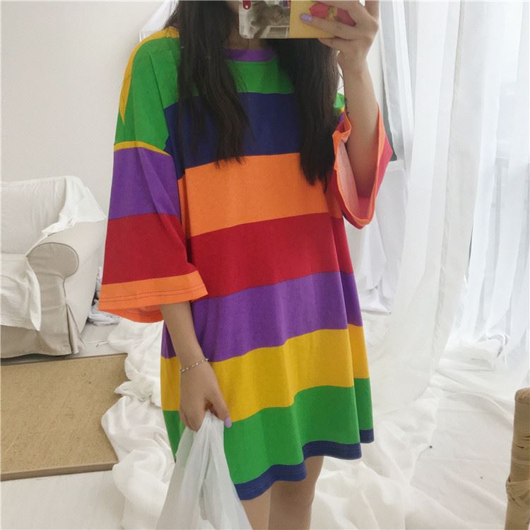 Multicolor, 2-3T FEITONG Toddler Baby Girls Dress Cartoon Dinosaur Striped Print 3D Dorsal Fin Outfits