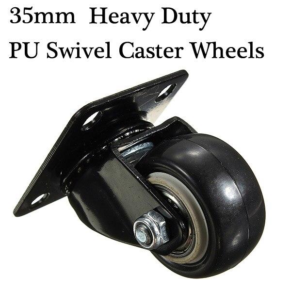 2 Stucke Los 35mm Heavy Duty Pu Lenkrollen Trolley Mobel Caster