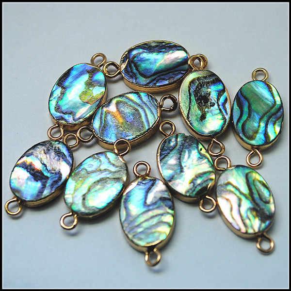 10 pçs natureza concha contas abalone concha contas mãe de pérola paul concha pulseiras conectores topo moda jóias acessórios