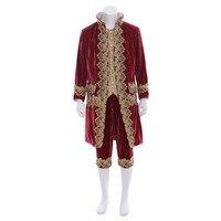 Косплэй diy Индивидуальный заказ викторианской элегантный готический аристократ Косплэй костюм для взрослых мужские ROCOCO костюм для Хэллоуи