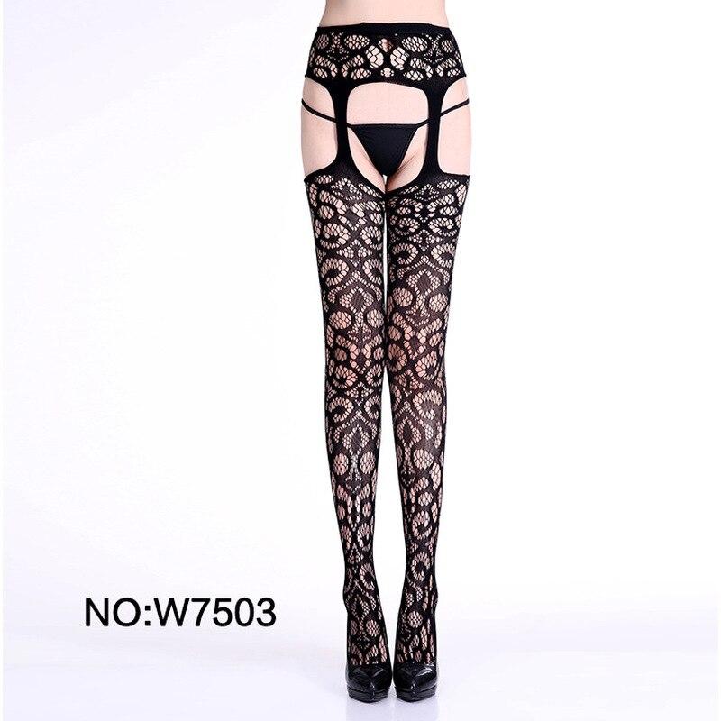 Buy Sexy Pantyhose Women Feminin Black Fishnet Tights Lady Thigh High Stocking Jacquard Sheer Hosiery Stockings Spring