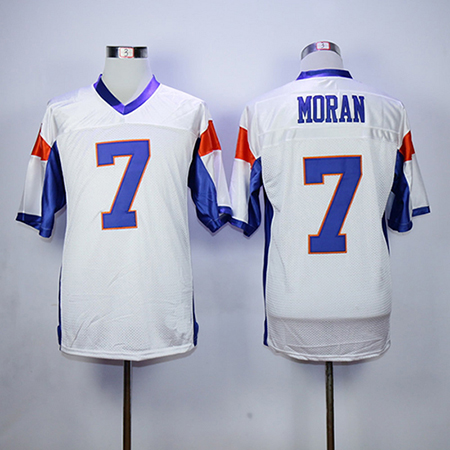 7 Alex Moran Blue Mountain State Football Jersey 54 Thad Castle Stitched Movie TV Show Throwback Football Jerseys Viva Villa цена