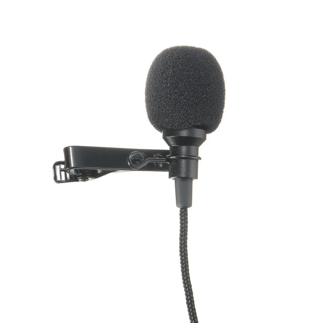 Microphones Microfono Mini Mic For Speaking Speech Lectures 2.4m Cable New Black Metal 3.5mm Jack Microphone Lavalier Tie Clip