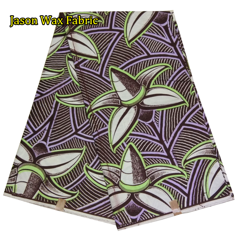 2017 new style african super wax hollandais fabric for dress Good quality real wax 6 yards/lot for dress LBL