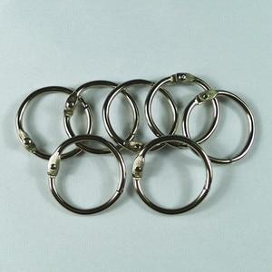 Image 2 - 4 יח\חבילה מתכת טבעת קלסר 15   75mm DIY אלבומים Loose עלים ספר חישוקי פתיחת ספקי עקידת משרד