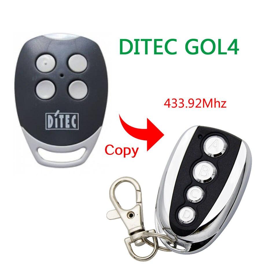 Ditec GOL4 compatible remote control transmitter / CLONE 433,92Mhz lacywear шапка gu 204 gol