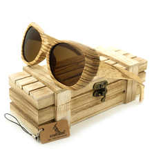 BOBO BIRD AG002b Zebra Wood polarized Sunglasses Men's Retro Of The Men And Women Of Luxury Handmade Sunglasses Tawny Lens OEM