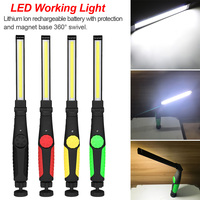 Portable USB Car Repairing Lamp Lantern Outdoor Rechargeable Torch Magnetic Camping Flashlight Working Light