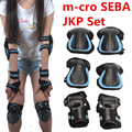 [Proteção patinação] Original M-cro SEBA JKP Joelho Pulso Cotovelo Terno Protetor Pad, para Patins em linha Trainning