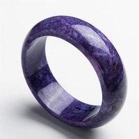 Внутренний диаметр 62мм Фиолетовый Круглый браслет браслеты Женщины матери Подарок Подлинная Чароит Природный камень браслет Just One