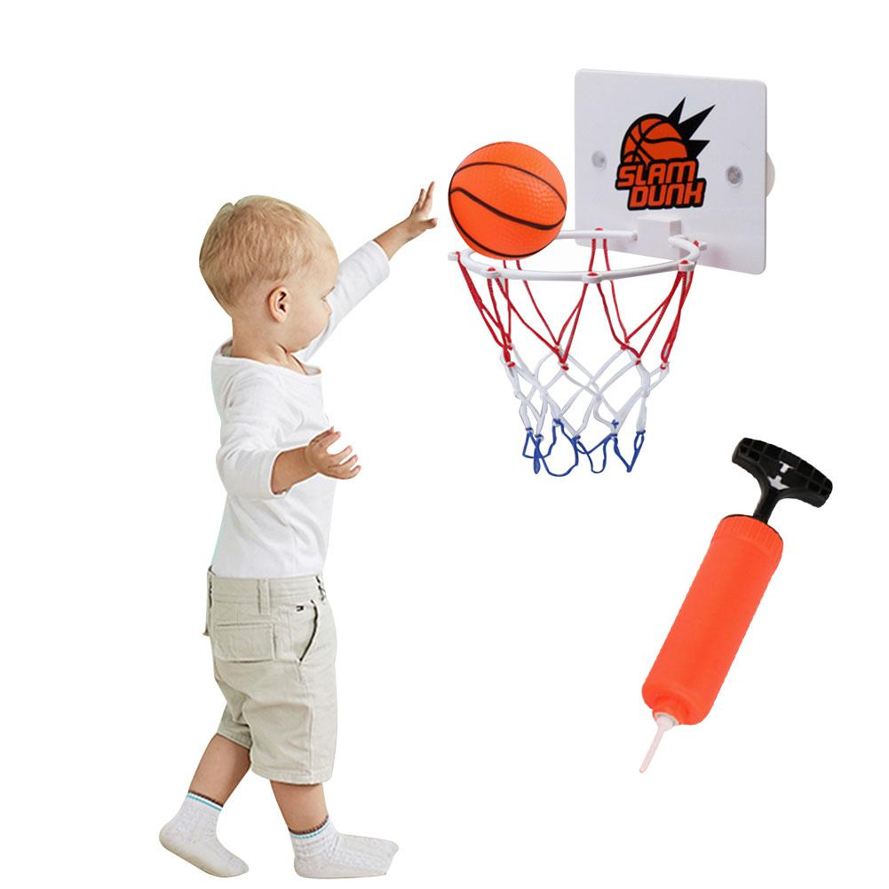 3pcs/set Children Kids Mini Basketball Hoop Toys Suck Wall-mounted Stand +pump +Basketball Indoor Shooting Frame Sport Toys