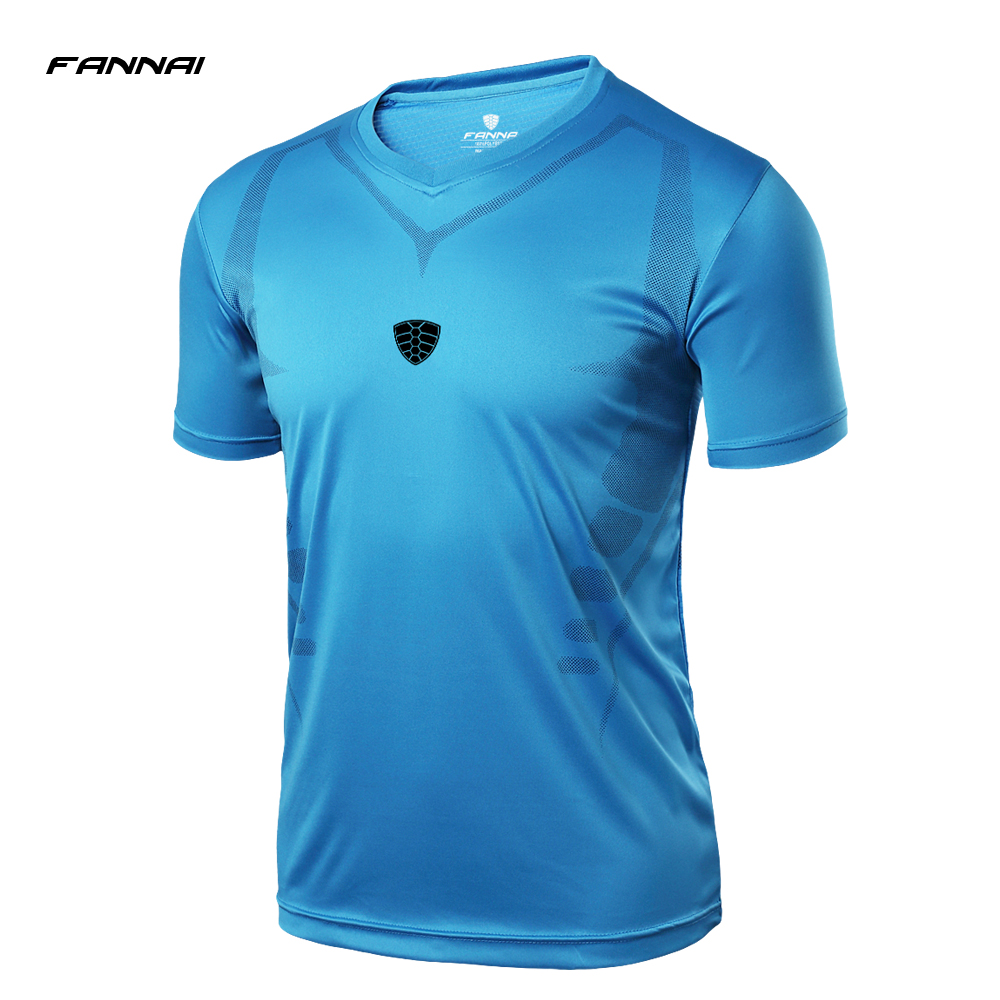 High Quality Short Sleeve Sport Shirt Men Quick Dry Men's Running T-shirts Gym Clothing Fitness Top Mens Rashgard Soccer Jerse new 2018 men s for olympique de marseille shirt 18 19 adults running shirts top quality adult payet thauvin l gustavo t shirt