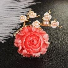 Женская Брошь В Виде Цветка farlena розовая брошь в виде пиона
