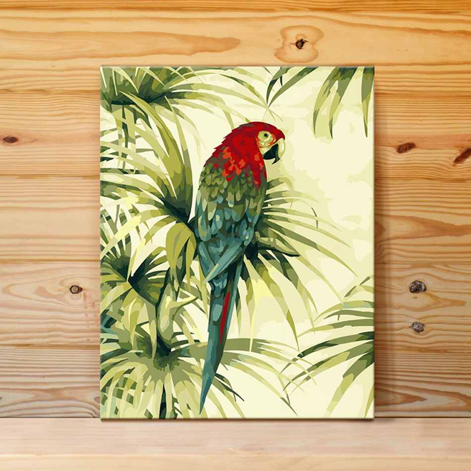 Lovely parrot DIY Painting By Numbers Kits Coloring Paint By Numbers ...