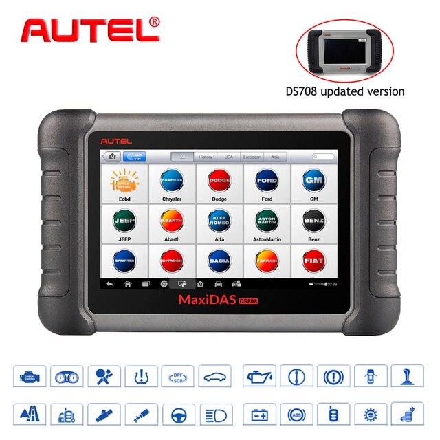 Cheap Pro Level Car Diagnostic Tool Autel Maxidas DS808K OBD Scanner Swift Diagnosis Functions of EPB//DPF/SAS/TMPS Similar to MS906BT
