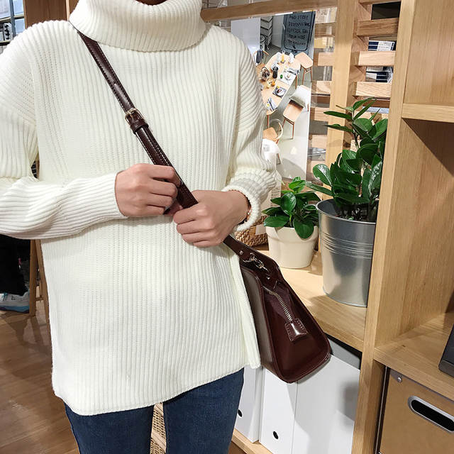 4d3e59f11b781 placeholder Korean Simple Basic Winter Knitted Sweaters Women Fashion Turtleneck  Pullover Sweater Female Casual All-match