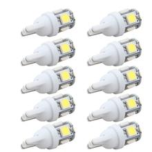 10 шт. Led Автомобильный DC 12 В лампада светильник T10 5050 супер белый 194 168 w5w T10 Светодиодная парковочная лампа авто клинообразный габаритный фонарь