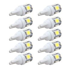 10PCS Led Car DC 12v Lampada Light T10 5050 Super White 194 168 w5w T10 Led Parking Bulb Auto Wedge Clearance Lamp(China)
