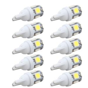 10PCS Led Car DC 12v Lampada Light T10 5050 Super White 194 168 w5w T10 Led Parking Bulb Auto Wedge Clearance Lamp(China)