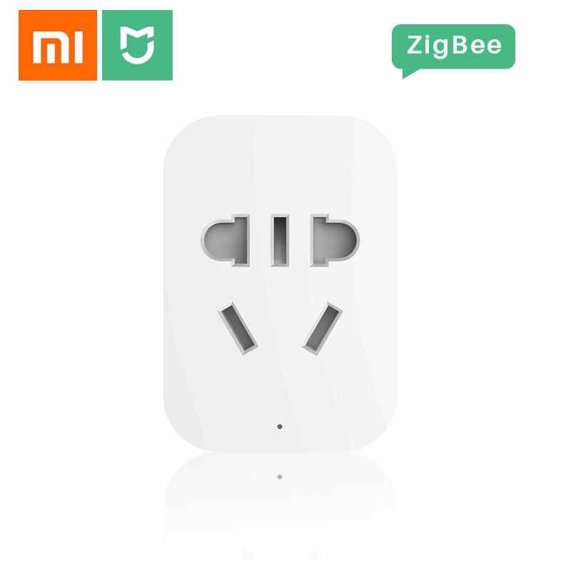 Оригинальный Xiaomi MiJia интеллектуальная розетка Zigbee WiFi приложение беспроводной пульт дистанционного управления таймеры питания с умным домашним приложением Mihome