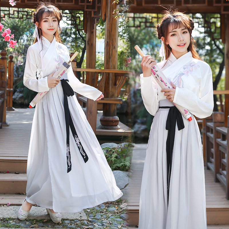 China National Costumes Hanfu Dress Female Ancient Dancewear Tang Dynasty Fairy Dress Swordsman For Stage Costumes Cosplay