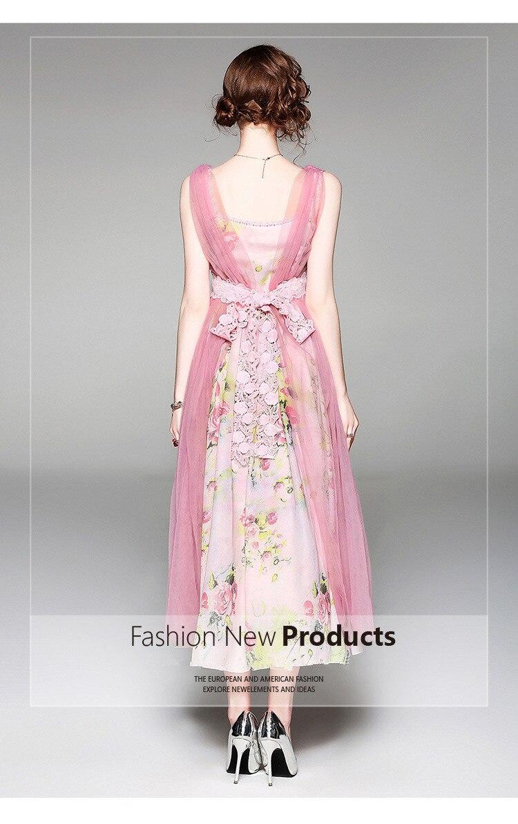 Maille Pièces Longue De Mousseline Soirée Fête Rose Chaussettes Élégant Robe 2 Femmes Femme En D'été Yq210 Dentelle Floral Printted Rembourées 2019 aUzwf7