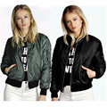 Brand Thin Jacket 2016 Spring Women Celeb Bomber Long Sleeve Coat Casual Stand Collar Slim Short Outerwear Plus Size