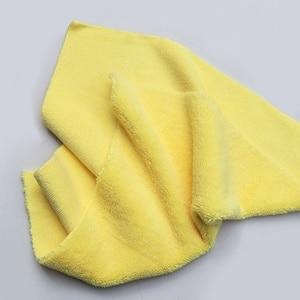 Image 5 - Paño de microfibra sin bordes para pulir, 40x40cm, 380g/m², toalla profesional sin bordes para pulir, pulir y lavar el coche, 1 ud.