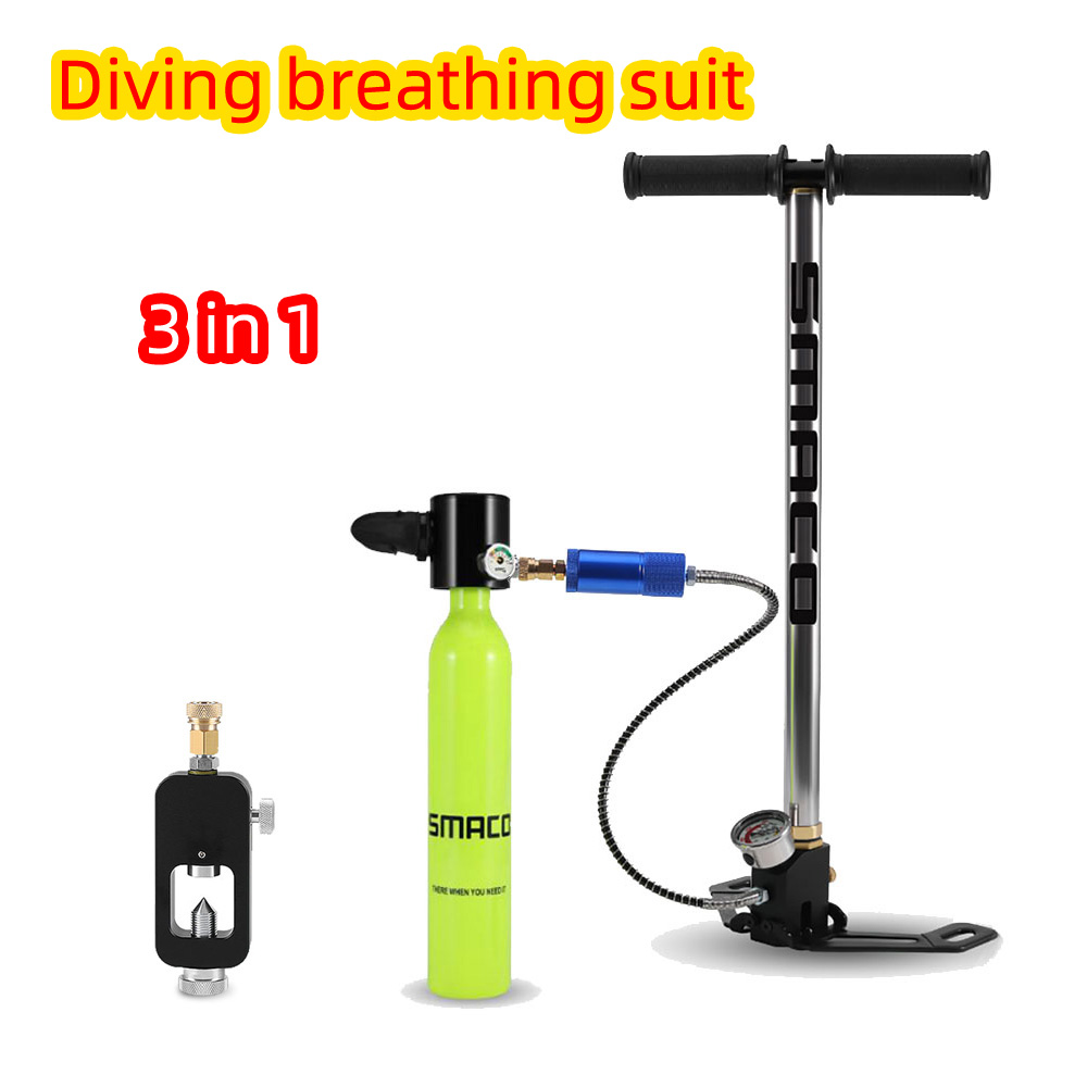 SMACO Mini Diving Scuba Cylinder Air Tank Valve Respirator Diving Equipment For Snorkeling Underwater Breathing Swimming Kits
