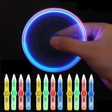None LED Spinning Pen Ball Pen Fidget Spinner Hand Top Glow In Dark Light EDC Stress Relief Toys Kids Toy Gift School Supplie(China)