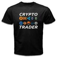 CRYPTO TRADER Litecoin bitcoin Ethereum Currency Cryptocurrency Tee T Shirt CTR Summer O Neck Tee,100% Cotton Classic tee