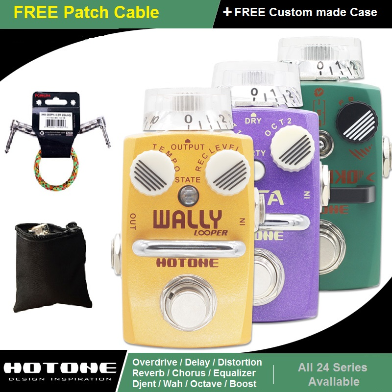 Hotone Pedaal Skyline Series Overdrive Djent Distortion Looper Gitaareffect Stompbox met gratis patchkabel en koffer