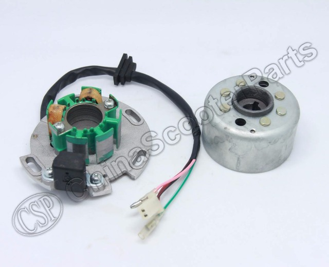 Magneto Stator 2 Pole Coil 4 Wire Flywheel Rotor Kit Lifan 150cc