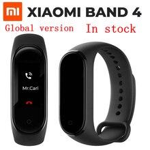 Глобальная новинка смарт браслет Mi Xiaomi Band 4 сенсорный экран водонепроницаемый пульсометр фитнес трекер спортивный браслет Miband4