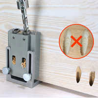 9mm Oblique Hole Drill 15 Degree Angle Locator Bits Hole Jig Woodwork Guide Clamp Locator Set Kit Woodworking Hand Tools