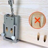 9mm ukośna dziura wiertła 15 stopni kąt lokalizator bity wyrzynarka stolarka przewodnik zacisk lokalizator zestaw zestaw narzędzia do ręcznej obróbki drewna w Zestawy narzędzi ręcznych od Narzędzia na