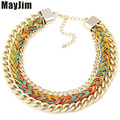 Statement Necklace 2017 New Fashion Vintage Jewelry Multicolor Short Chain choker Necklaces & pendants Women Jewelry Accessories